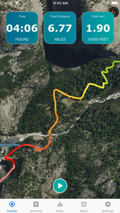 Topo Map & Hiking Tracker Screenshot