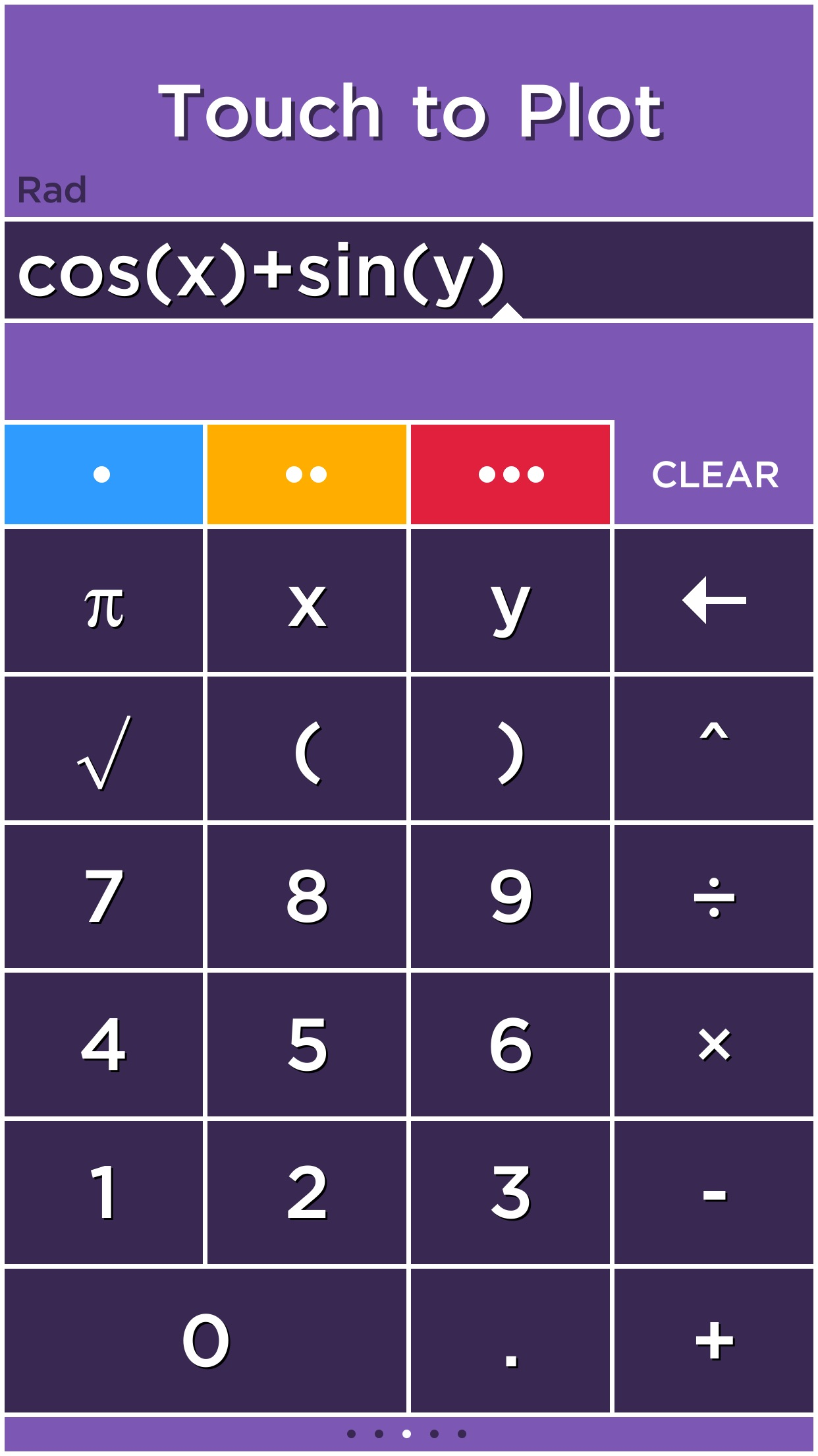 Screenshot do app Solve - Graphing Calculator