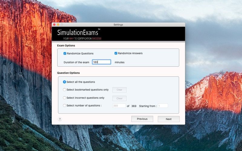 SE : Integrated Exam Engine for Mac
