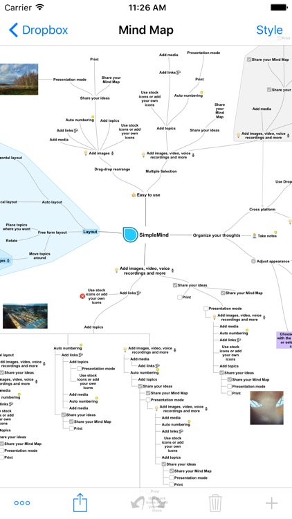 SimpleMind+ Mind Mapping