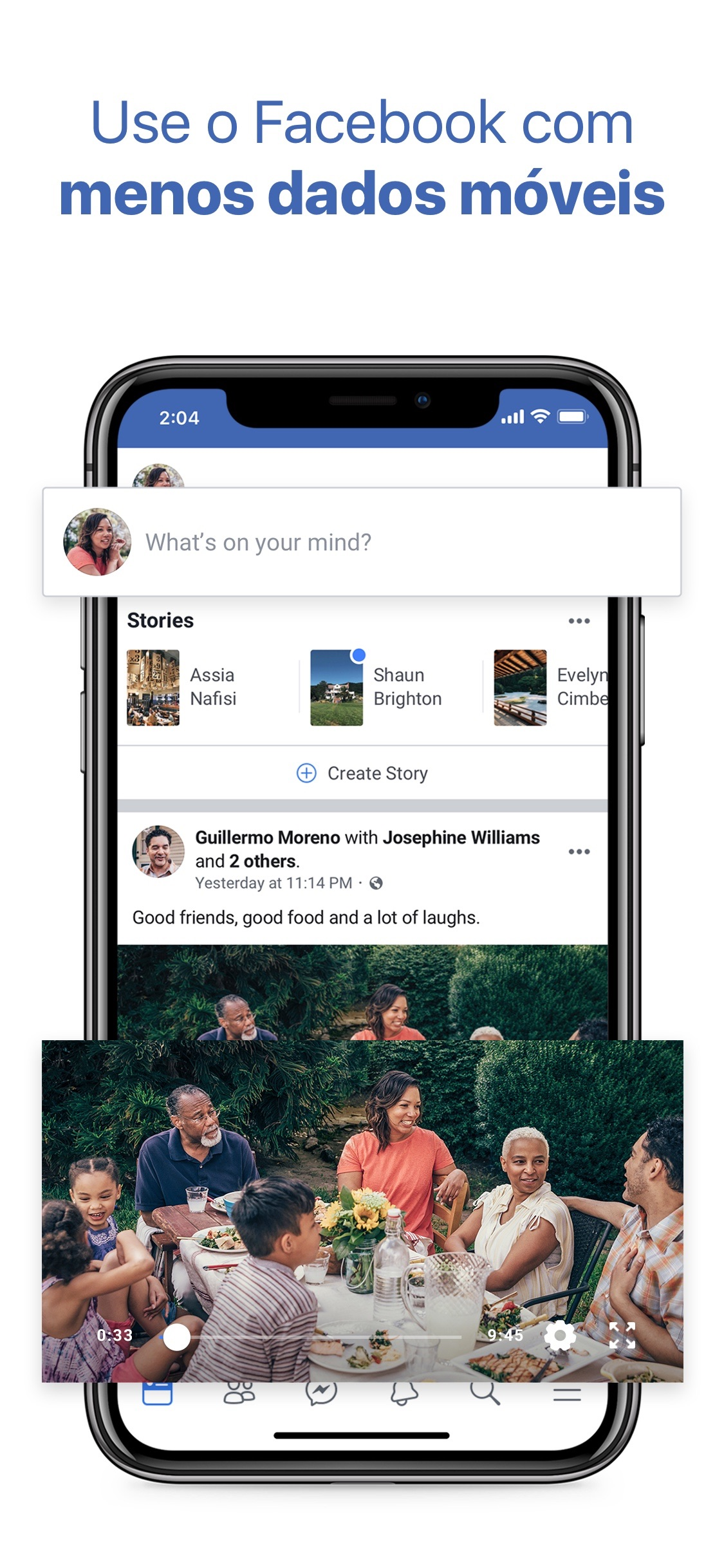 Screenshot do app Facebook Lite