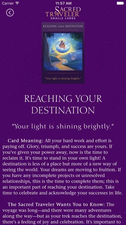 Sacred Traveler Oracle Cards screenshot-3