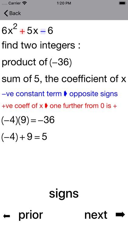 Quadratic Factoring screenshot-3