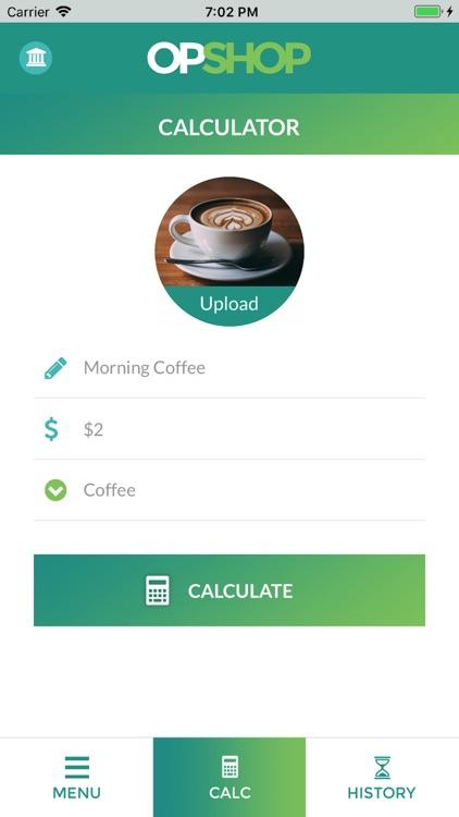 OpShop: Shop less, Invest More