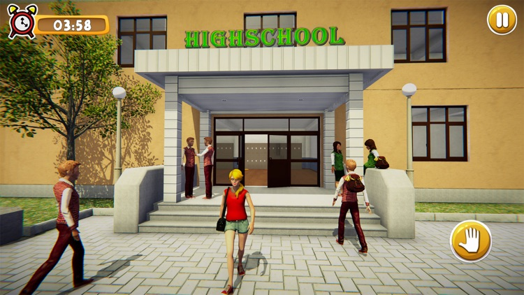 School Girl Life Simulator 3D screenshot-0