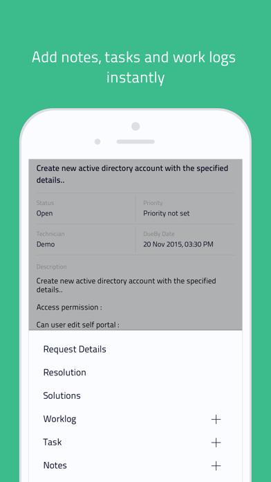 Screenshot #2 pour IT helpdesk | ServiceDesk Plus