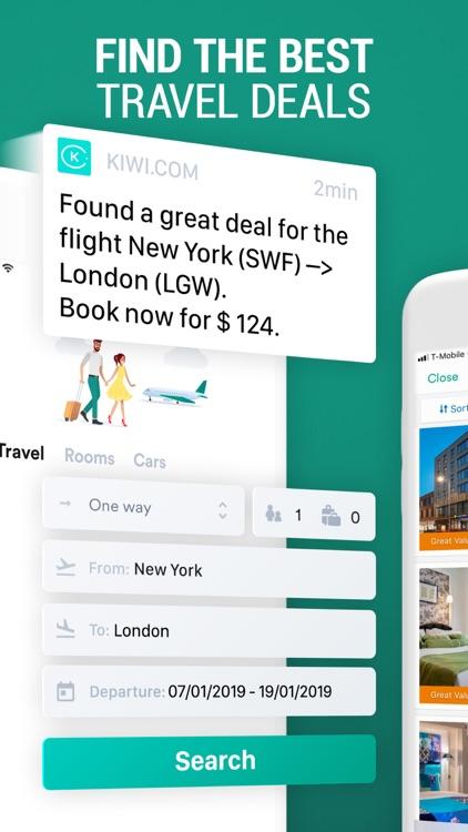 Kiwi.com: Cheap Travel Deals screenshot-0