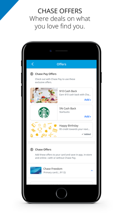 Chase Pay®   Earn, Save, Order - App - iOS me