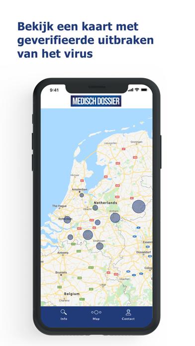COVID-19 - Medisch Dossier Screenshot on iOS