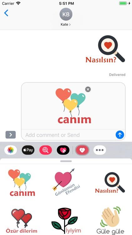 Turkish Love Stickers
