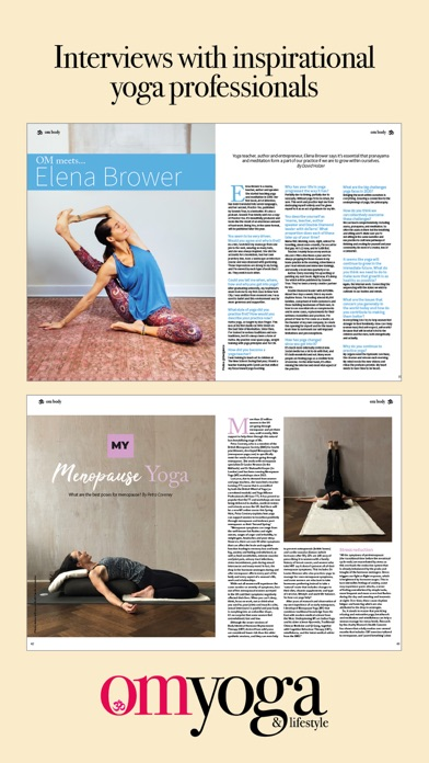 OM Yoga Magazine screenshot two