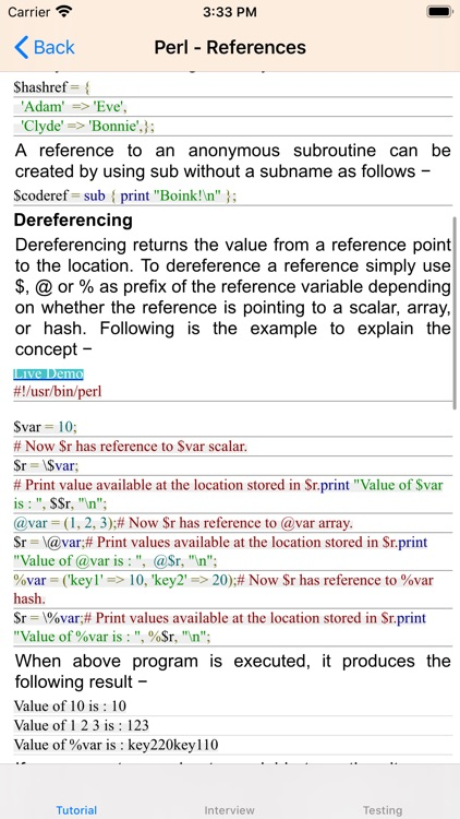 Tutorial of Perl