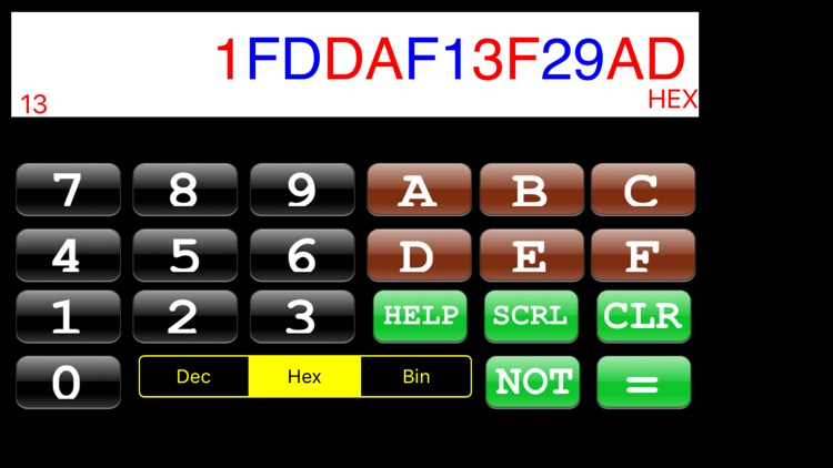 Hexadecimal Calculator