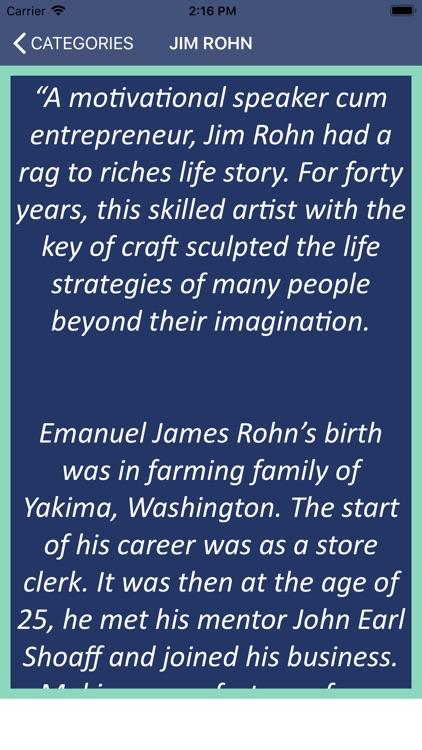 Jim Rohn's Wisdom screenshot-4