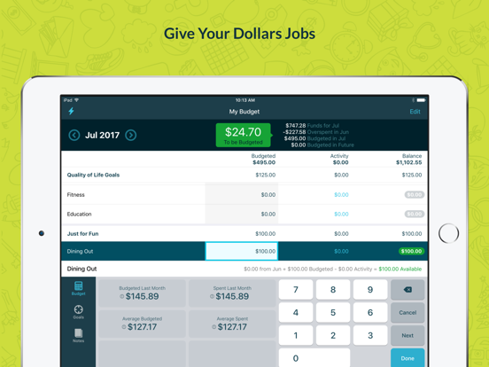 YNAB (You Need A Budget)   App Price Drops