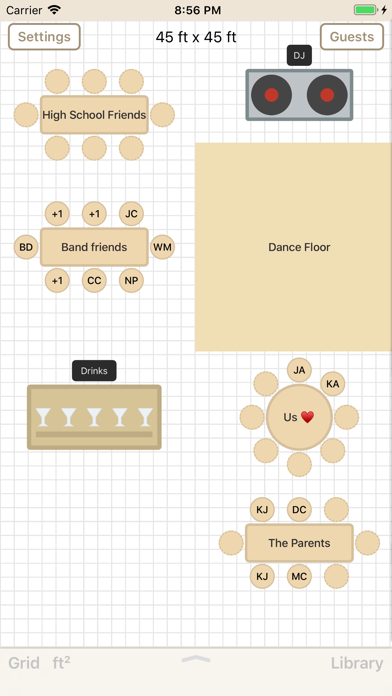 Seat Puzzle for Floor Plans