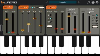 Screenshot #1 pour Lorentz Synthesizer