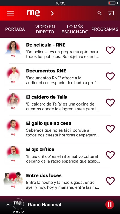 Radio Nacional de España screenshot-1
