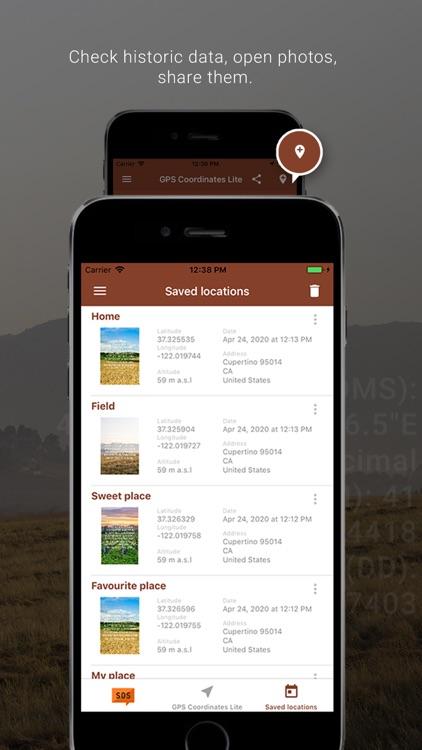My GPS Coordinates Lite screenshot-3