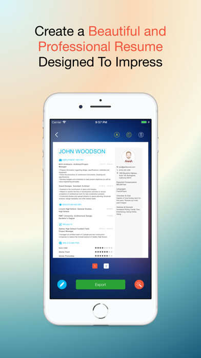 Resume: The Free CV Builder With Templates Designed To Land Interviews and Jobs screenshot