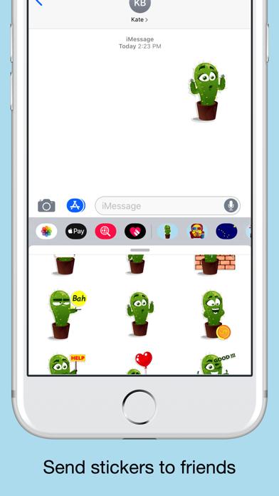 Cactus emoji - funny plants screenshot 4