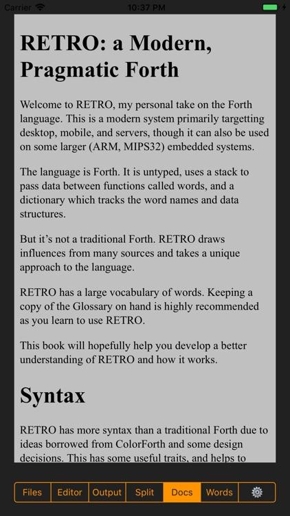 RETRO FORTH screenshot-4