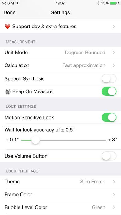 Clinometer + bubble level Screenshots