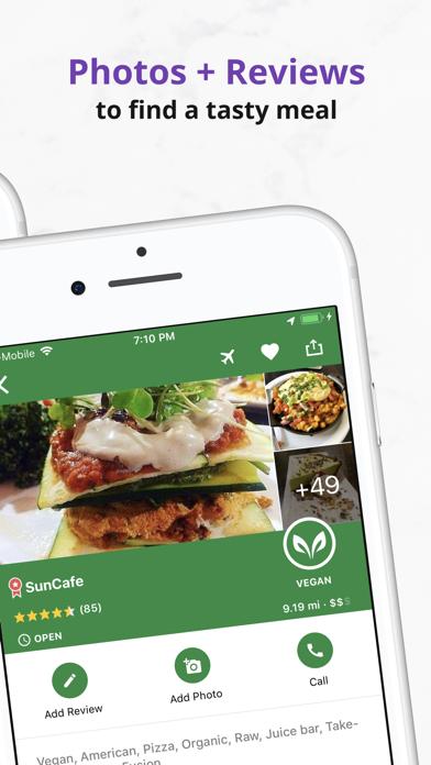 Vegan Food Near You - HappyCow Screenshot