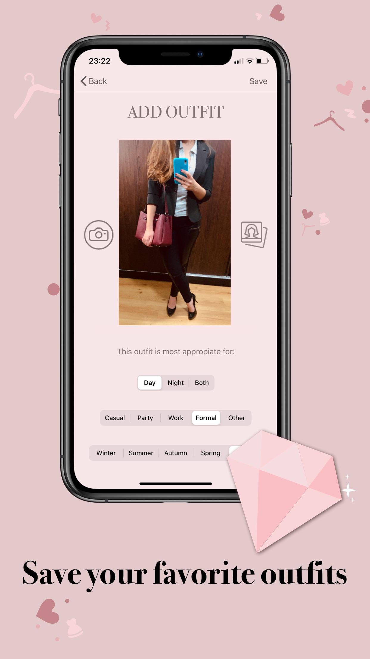 Screenshot do app DressApp: your looks