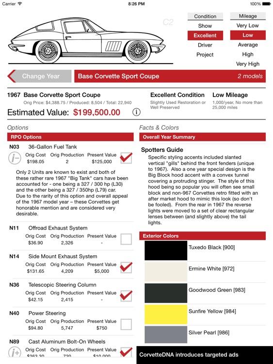 CorvetteDNA for iPad