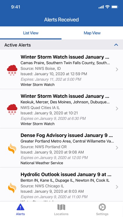 AlertSense My Alerts screenshot-1