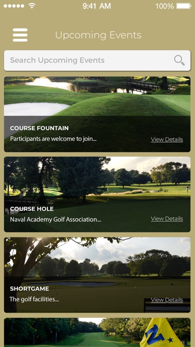 Naval Academy Golf Association Screenshot