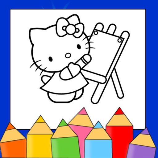 Kids coloring & drawing Book icon