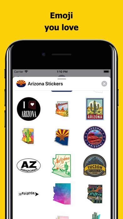 Arizona emojis - USA stickers screenshot 2