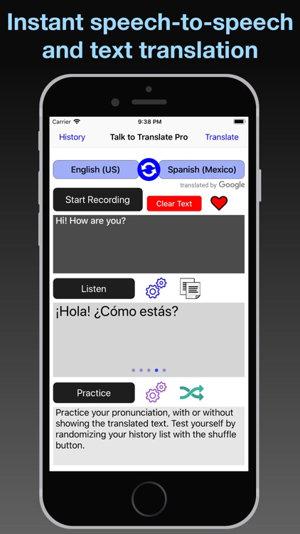 T2T Pro: Speech Translation screenshot-0