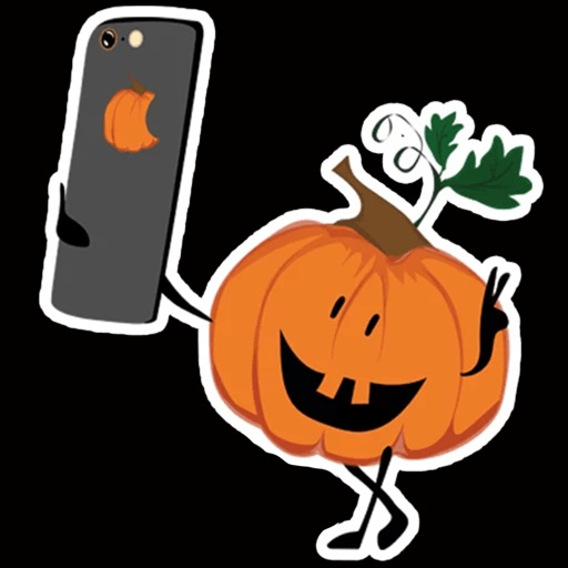 Halloween stickers - pumpkin icon