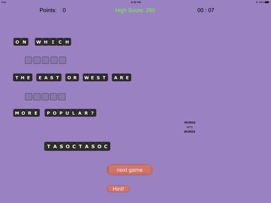 WORDS into WORDS screenshot 10