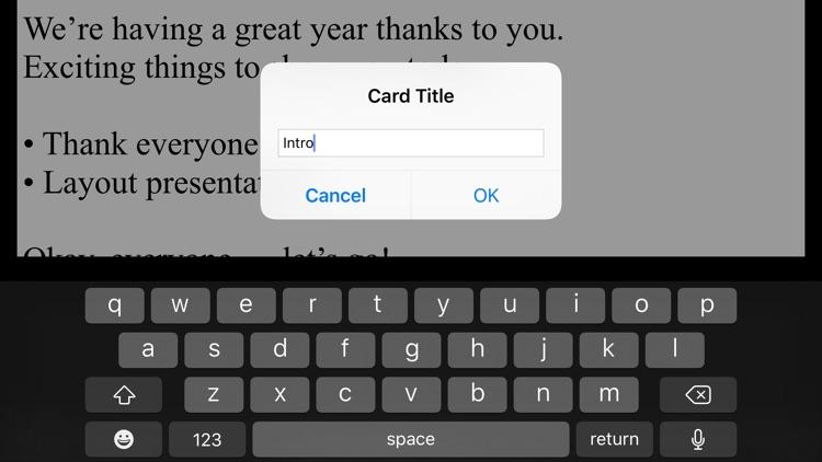 Cue Cards screenshot-5