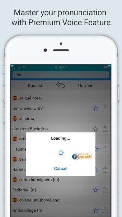Spanish-German Dictionary + screenshot 3