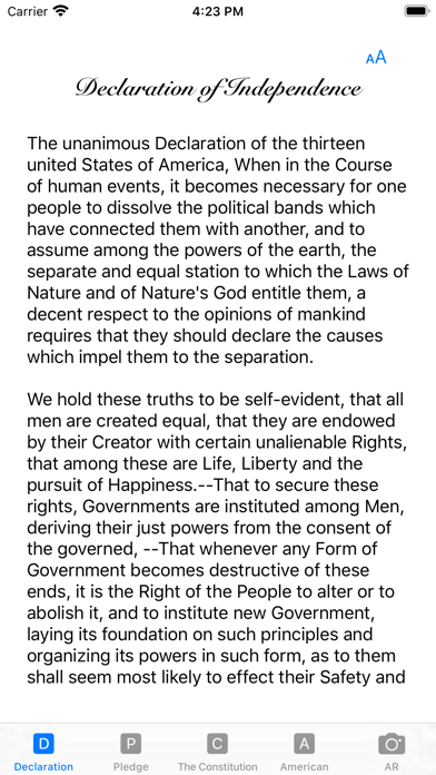 our Constitution screenshot 1