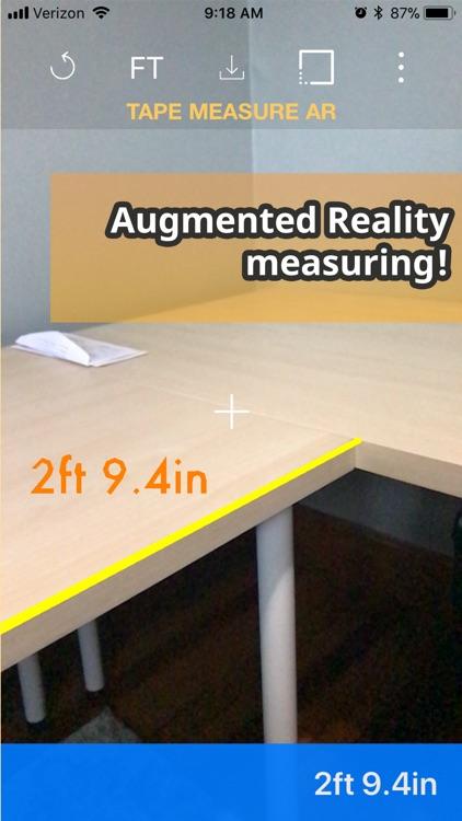 Tape Measure AR : Ruler App screenshot-3