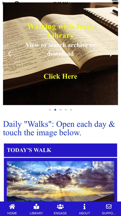 """Daily """"Walking with Jesus"""""""