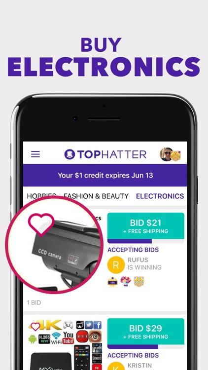 Tophatter: Win Fun Discounts screenshot-4