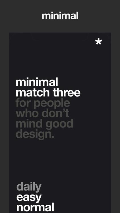 Minimal Match Three screenshot-0