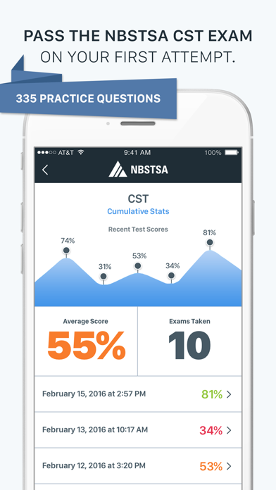 Official NBSTSA CST Exam Prep Screenshot