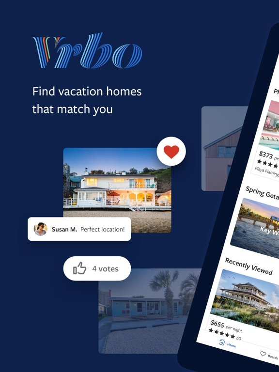iPad Image of Vrbo Vacation Rentals
