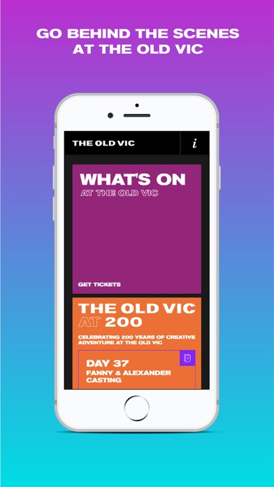 The Old Vic App screenshot one