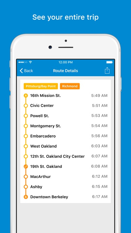 Trip Planner for BART