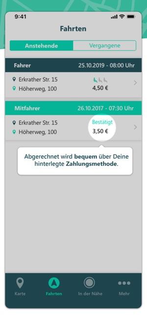 mitfahr app