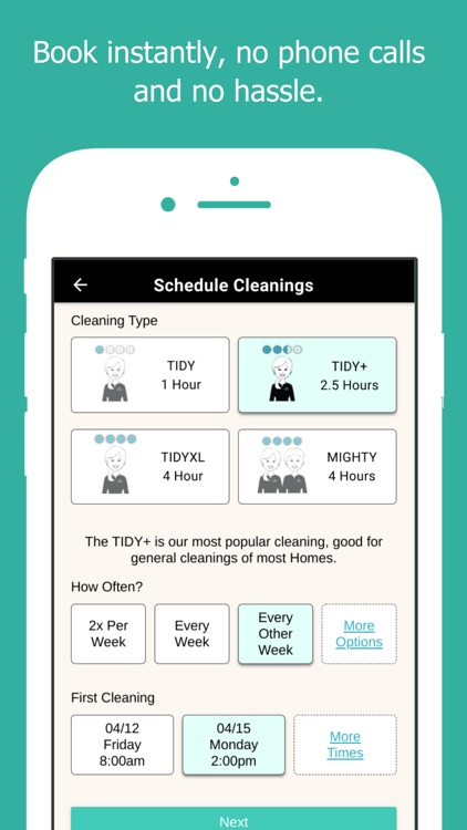 TIDY - Home Cleanings